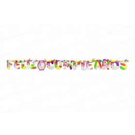 Letrero Feliz Cumpleaños CyM Unicornio