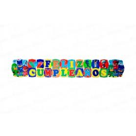 Letrero Grande Feliz Cumpleaños Héroes en Pijamas