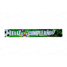Letrero Feliz Cumpleaños Fútbol Paquete x2