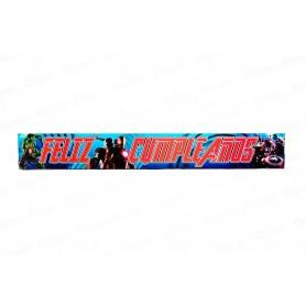 Letrero Feliz Cumpleaños Avengers Paquete x2