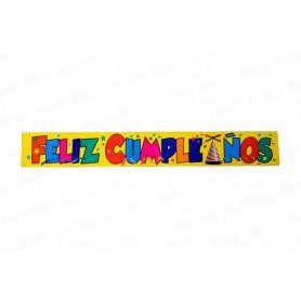 Letrero Feliz Cumpleaños Paquete x2