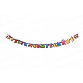 Letrero Feliz Cumpleaños Masha y el Oso Party