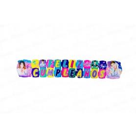 Letrero Grande Feliz Cumpleaños  Violetta