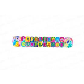 Letrero Grande Feliz Cumpleaños  Princesas