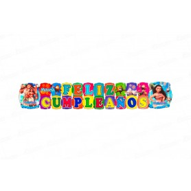 Letrero Grande Feliz Cumpleaños Moana