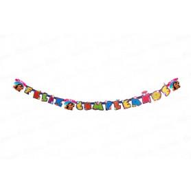 Letrero Feliz Cumpleaños Moana Party
