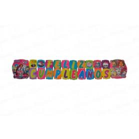 Letrero Grande Feliz Cumpleaños Monster High