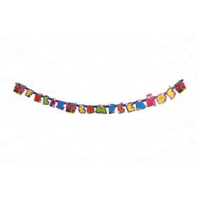 Letrero Feliz Cumpleaños Party Soy Luna
