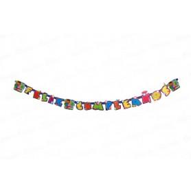 Letrero Feliz Cumpleaños Doc Juguetes Party