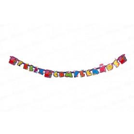 Letrero Feliz Cumpleaños Peppa Pig