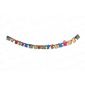 Letrero Feliz Cumpleaños Sirenita Party
