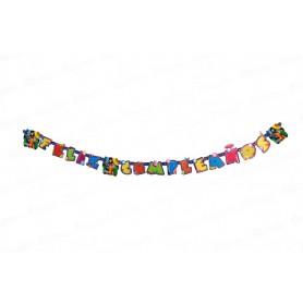 Letrero Feliz Cumpleaños Slugterra Party