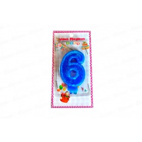 Vela Mágica Azul 6  Años