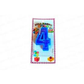 Vela Mágica Azul 4 Años