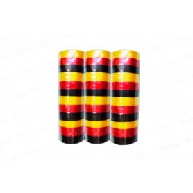 Serpentina Amarillo-Rojo-Negro Paquete x3