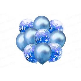 Globo Ramillete Azul X10