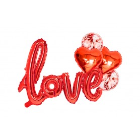 Globo Ramillete Love Rojo