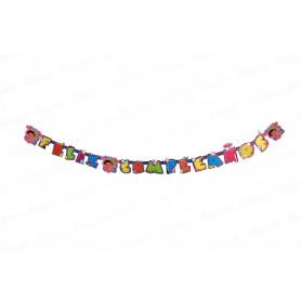 Letrero Feliz Cumpleaños Dora La Exploradora Party