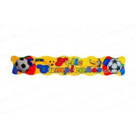 Letrero Feliz Cumpleaños Fútbol