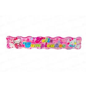 Letrero Feliz Cumpleaños Hello Kitty
