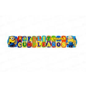 Letrero Grande Feliz Cumpleaños Minions