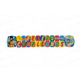 Letrero Grande Feliz Cumpleaños Slugterra