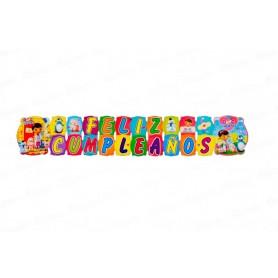 Letrero Grande Feliz Cumpleaños Doc Juguetes