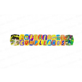 Letrero Grande Feliz Cumpleaños Ben 10