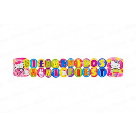 Letrero Grande Bienvenidos Hello Kitty