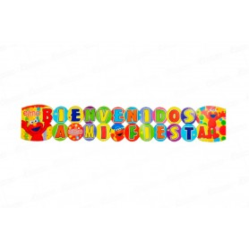 Letrero Grande Bienvenidos Elmo