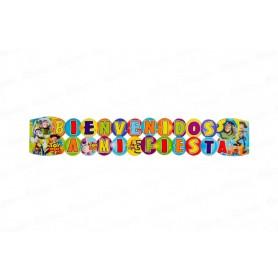 Letrero Grande Bienvenidos Toy Story
