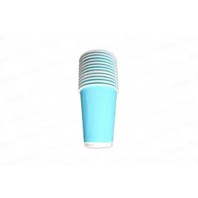 Vaso Azul Celeste Fondo Entero Paquete x12