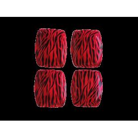 Tortera Cebra Fucsia Paquete x12