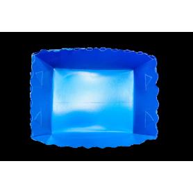 Tortera Fondo Entero Azul Paquete x12