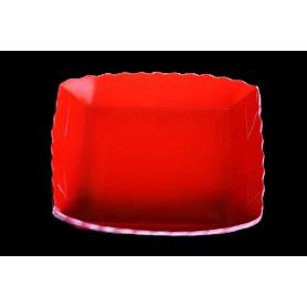 Tortera Fondo Entero Roja Paquete x12