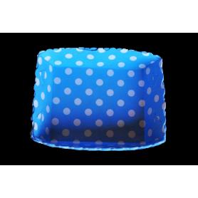 Tortera Polka Azul Celeste Paquete x12