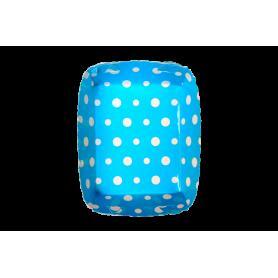 Tortera Polka Azul Paquete x12
