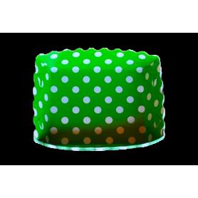 Tortera Polka Verde Paquete x12
