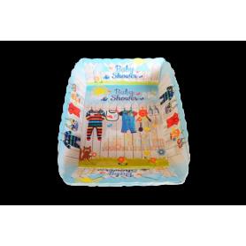 Tortera Baby Shower Niño Paquete x12