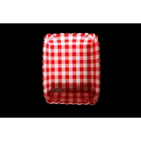 Tortera Picnic Rojo Paquete x12