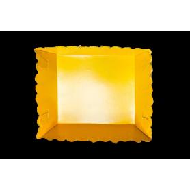 Tortera Fondo Entero Amarillo Paquete x12