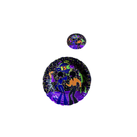 Plato y Portavaso Disco Paquete x12
