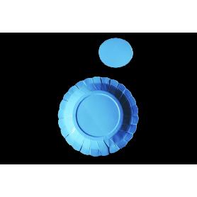 Plato y Portavaso Azul Paquete x12