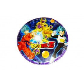 Plato redondo Dragon Ball z Paquete x12