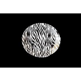 Plato Cebra Negro Paquete x12 Dfiestas