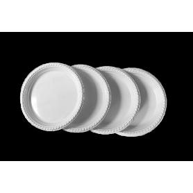 Plato Plástico Blanco Paquete x10