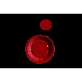 Plato y Portavaso Rojo Paquete x12
