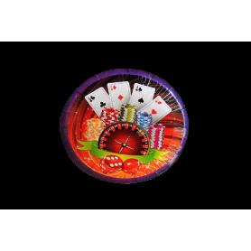 Plato Casino Paquete x12 Dfiestas