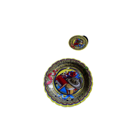 Plato y Portavaso Vallenato Paquete x12
