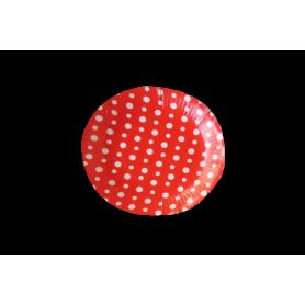 Plato Polka Rojo Paquete x12 Dfiestas